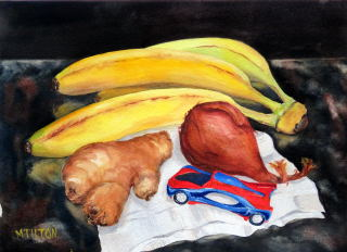 Mary Tilton - Still Life With Car Race